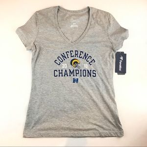 LA Rams Womens Gray Medium T-shirt New With Tags